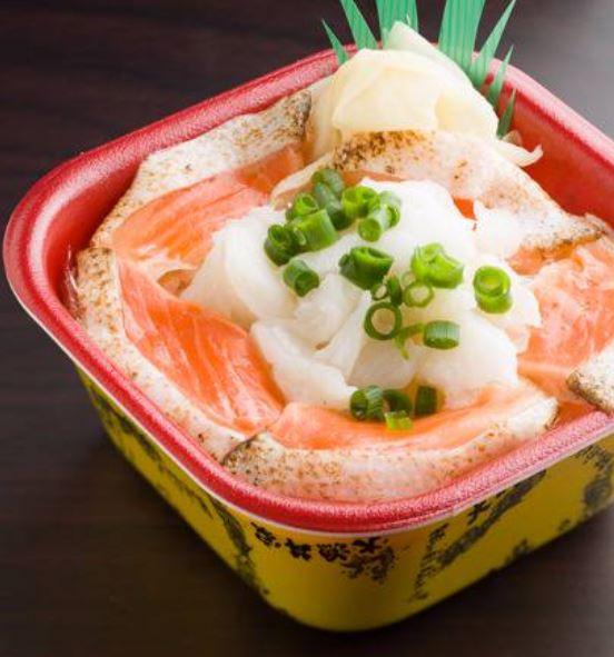 焼きサーモン縁側丼