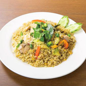 グリーンカレーチャーハン/Fried rice with Green Curry