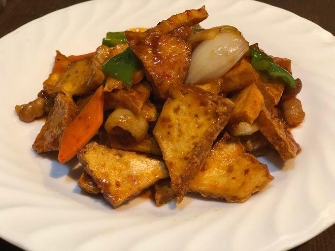 厚揚げと野菜の炒め