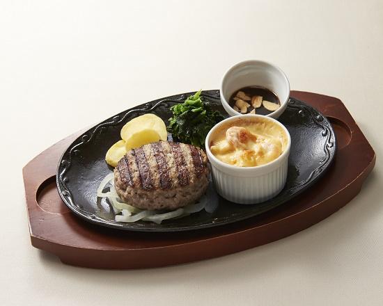 【4D】All Beef ハンバーグ&海老グラタン~選べるソース