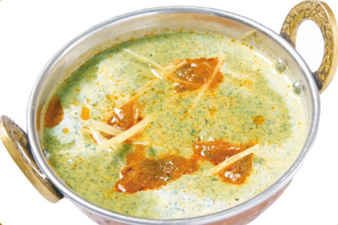 サグマトンカレー Sag Mutton Curry