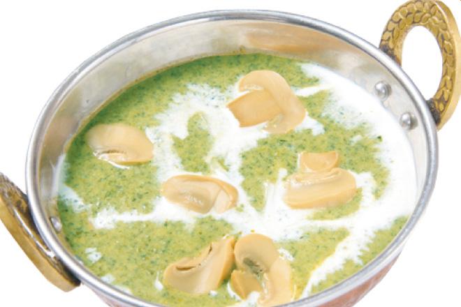 サグマッシュルームカレー Sag Mushroom Curry