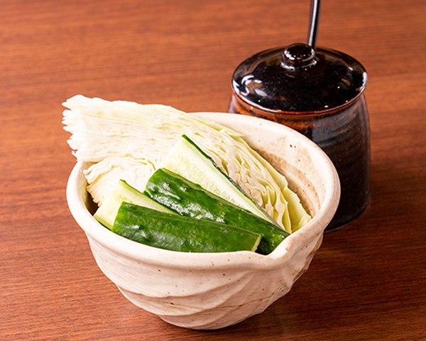 【山内農場特製味噌付】野菜盛り合せ Assorted Fresh Vegetables with Yamauchi Nojo Special Miso Dip