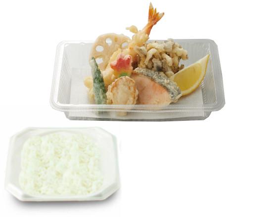 秋鮭と帆立の天ぷら弁当