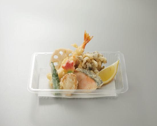 秋鮭と帆立の天ぷら盛合せ
