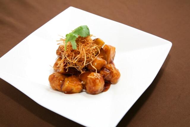 台湾黒酢の酢豚