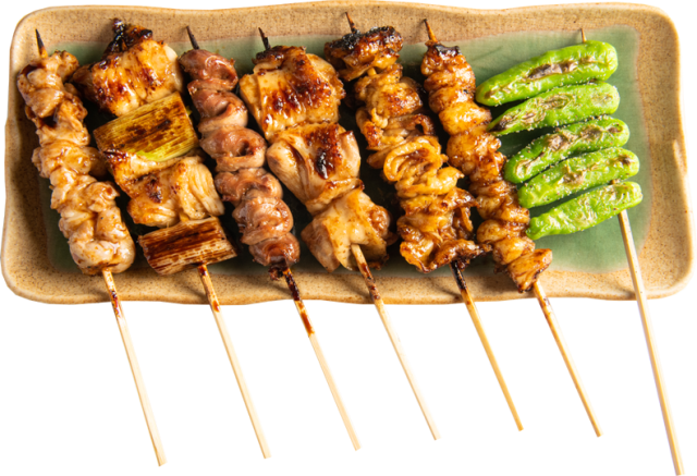 串焼き7本盛り (タレ)